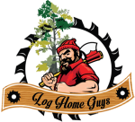 log home guys logo
